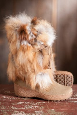 Women's Pajar Fox Trot Cowhide and Fox Fur Boots