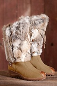 Women's Nitro Leather and Rabbit Fur Boots