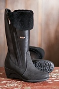 Women's Blaire Waterproof Leather Boots with Shearling Lining