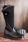 Women's Tall London Leather Boots with Shearling Lining