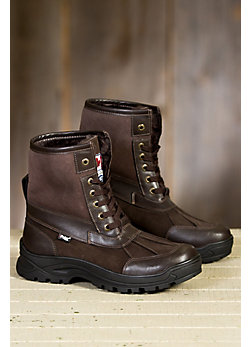 Men's Pajar Clermont Leather Gripper Boots with Shearling Lining
