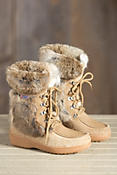 Women's Pajar Bionda Leather Boots with Rabbit Fur Trim