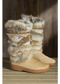 Women's Pajar Maya Cowhide and Rabbit Fur Boots