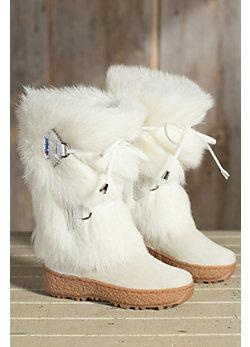 Children's Pajar Julia Goat Fur Boots