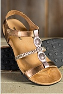 Women's Minnetonka Lakeshore Leather Sandals