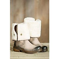 Women's Manas Perlita Tall Fold-Down Leather Boots, ROCCIA
