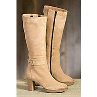 Womens Manas Esti Tall Suede Boots NOCCIOLA Size EU39