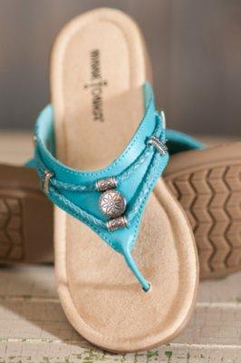 Women's Minnetonka Silverthorne Leather Sandals
