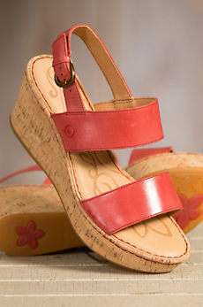 Women's Born Metzger Leather Wedge Sandals
