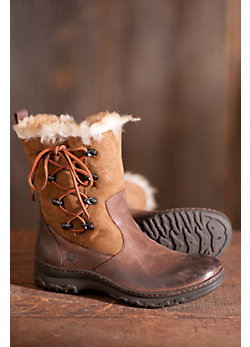 Women's Born Masa Leather Boots with Shearling Lining