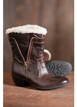 Women's Born Danila Leather Boots with Shearling Lining