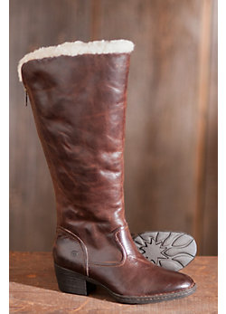 Women's Born Aleksi Leather Boots with Shearling Lining