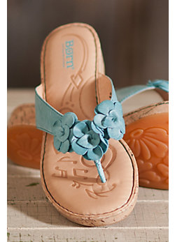 Women's Born Kornelia Floral Leather Sandals