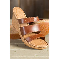 Women's Born Marjorie Leather Slide Sandals, BAG PIPE