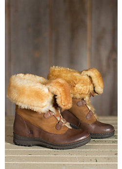 Women's Born Filo Leather Boots with Shearling Lining