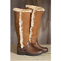 Women's Born Helga Leather Boots With Shearling Lining, Canoe, Size 8 Western & Country