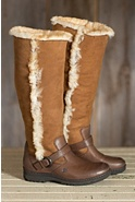 Women's Born Helga Leather Boots with Shearling Lining