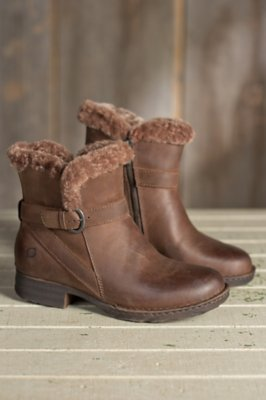 Women's Born Kaia Leather Boots with Shearling Lining