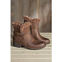 Women's Born Kaia Shearling-Lined Leather Boots, SUMMER BROWN