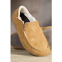 Men's OluKai Moloa Sheepskin Slippers, TOBACCO/TOBACCO