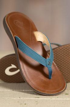 Women's Olukai Pua Leather Sandals