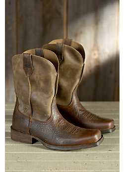 Men's Ariat Rambler Leather Cowboy Boots