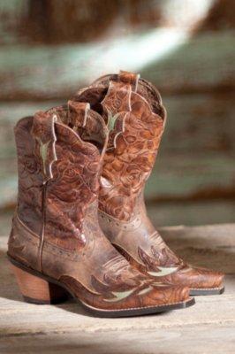Women's Ariat Dahlia Leather Cowboy Boots