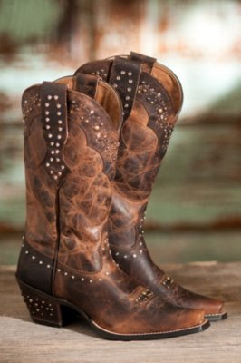Women's Ariat Rhinestone Leather Cowboy Boots