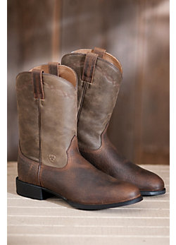Men's Ariat Heritage Roper Leather Cowboy Boots