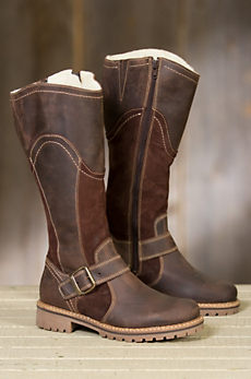 Women's Bos & Co Hopper Outercity Tall Wool-Lined Waterproof Leather Boots