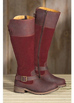 Women's Bos & Co Alice Wool-Lined Leather Boots