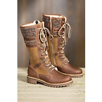 Women's Bos & Co Holden Wool-Lined Waterproof Leather Boots, BARK/CAMEL