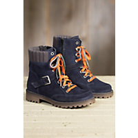Womens Bos and Co Colony Waterproof Suede Boots NAVY GREY Size EU37