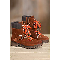 Bos & Co Colony Waterproof Suede Boots, RUST/GREY