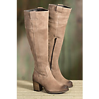 Women's Bos & Co Horton Tall Waterproof Suede Boots, TAUPE