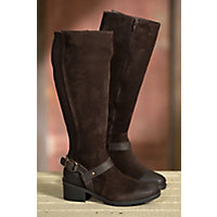 Women's Bos & Co Blossom Waterproof Suede Boots, EXPRESSO/DARK BROWN