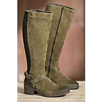 Women's Bos & Co Blossom Waterproof Suede Boots, MOSS/BROWN