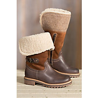 Women's Bos & Co Hillory (Overland Edition) Wool-Lined Waterproof Leather Boots with Shearling Collar, ESPRESSO/NATURAL