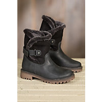 Women's Bos & Co Candy (Overland Edition) Wool-Lined Waterproof Leather Boots with Shearling Shaft, BLACK/BLACK BRIESA
