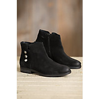 Bos & Co Sheridan Waterproof Suede Ankle Boots, BLACK