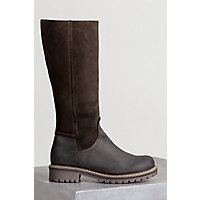 Bos & Co Hudson Shearling-Lined Waterproof Leather Boots, DARK BROWN/COFFEE