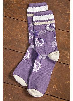 Women's SmartWool Blossom Bitty Merino-Blend Wool Crew Socks
