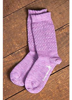 Women's SmartWool Pointelle Merino-Blend Wool Crew Socks