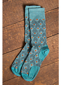 Men's SmartWool Spotted Merino-Blend Wool Crew Socks