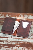Oil-Tanned Bison Leather Wallet