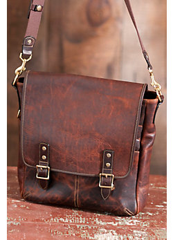 Oil-Tanned Bison Leather Case & Backpack