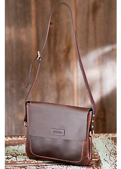 Women's Slim Leather Messenger Bag