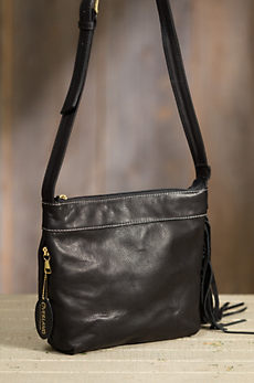 Overland Taos Collection Side Fringe Crossbody Handbag with Concealed Carry Pocket