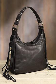 Overland Taos Collection Fringe Shoulder Handbag with Concealed Carry Pocket