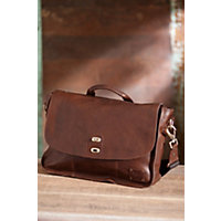 Kent Bridle Leather Messenger Bag, Cognac Western & Country